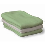 Foundations ThermaSoft™ 100% Cotton Knit Thermal Baby Blankets Fits All Portable Compact & Full-Size Cribs White or Mint 6 Per Case Price Per Case