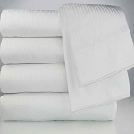 Ganesh T-250 Tone on Tone Pillow Sham 21x27 60% Cotton 40% Polyester White 72 Per Case Price Per Each