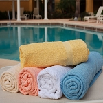 Ganesh Solid Dyed Pool Towels 36x68 100% Cotton Oxford Bronze Classic Dyed White 12.75 Lb/Dz 5 Dz Per Case Price Per Dz