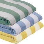 Ganesh Oxford Cabana 4X4 Stripe Pool Towels 35x70 100% Cotton w/ Dobby Twill Hem 2 Ply Ringspun 20 Lb/Dz 1 Dz Per Case Price Per Dz