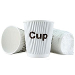 Ganesh 9 Oz. Individually Wrapped Rippled Insulated Coffee Cups 900 Per Case Price Per Case