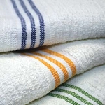 Ganesh Oxford Bronze Three Stripe Pool Towels 30x60 100% Cotton White 9 Lb/Dz 10 Dz Per Case Price Per Dz