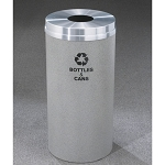 Glaro 12-Gallon RecyclePro 1 Receptacles For Bottles Cans Etc w/ Round Opening Satin Aluminum Satin Brass or Designer Color Finish