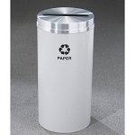 Glaro 12-Gallon RecyclePro 1 Single Purpose Receptacles For Paper w/ Slot Opening Satin Aluminum Satin Brass or Designer Color Finish
