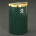 Glaro 16-Gallon RecyclePro Value Half Round