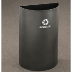 Glaro 16-Gallon RecyclePro Open Top Half Round
