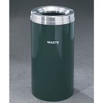 Glaro 12-Gallon RecyclePro 1 Receptacles For Waste w/ Large Trash Opening Satin Aluminum Satin Brass or Designer Color Finish