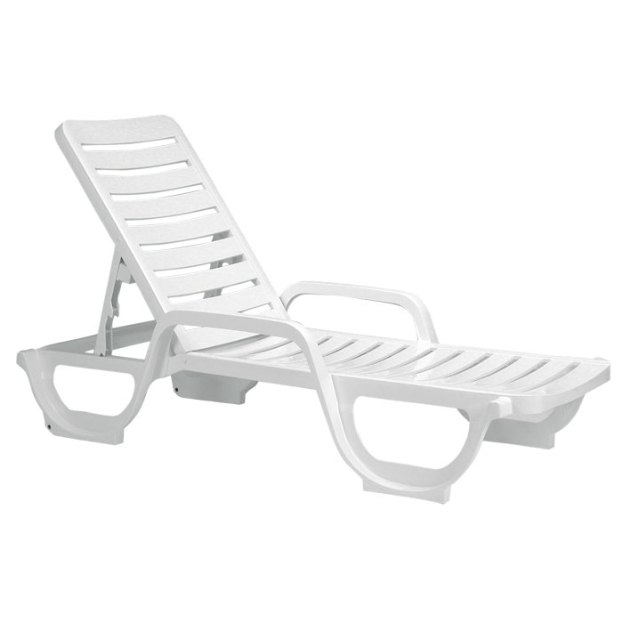 Grosfillex Bahia Stacking Adjule Chaise White 18 Per Case Price Each