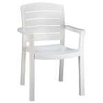 Grosfillex Acadia Stacking Armchair White 12 Per Case Price Per Each