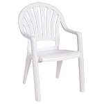 Grosfillex Pacific Fanback Stacking Armchair White 16 Per Case Price Per Each