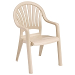Grosfillex Pacific Fanback Stacking Armchair Sandstone 16 Per Case Price Per Each