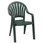 Grosfillex Pacific Fanback Stacking Armchair Amazon Green 16 Per Case Price Per Each