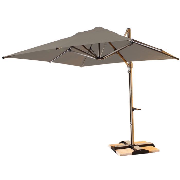 Grosfillex 10 Windmaster Square Cantilever Umbrella W Storage