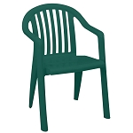 Grosfillex Miami Lowback Stacking Armchair Amazon Green 16 Per Case Price Per Each