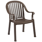 Grosfillex Colombo Classic Stacking Armchair Bronze Mist 12 Per Case Price Per Each