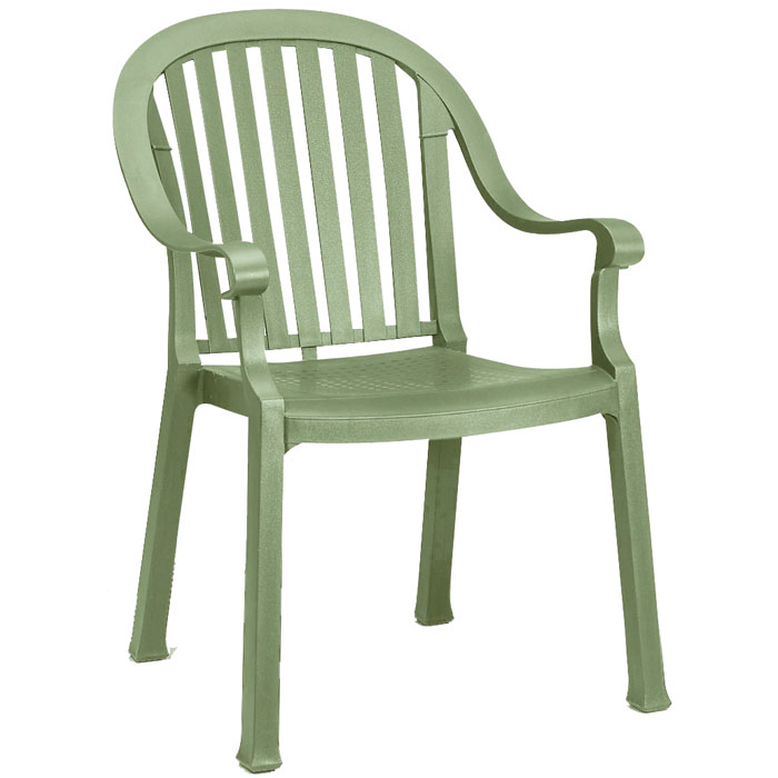 grosfillex colombo classic stacking armchair sage green 12 per case