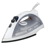 Proctor-Silex Commercial 17515 Lightweight Steam/Spray Iron White/Gray 4 Per Case Price Per Each