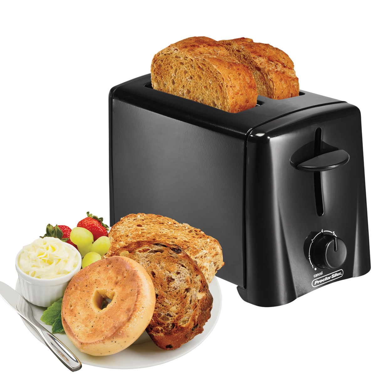 Proctor Silex Commercial 22612 2 Slice Toaster Black 2 Per