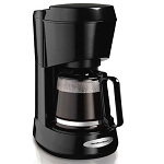 Hamilton Beach Commercial 48136 4 Cup Coffee Maker w/ Swing Out Brew Basket Glass Carafe Black 4 Per Case Price Per Each