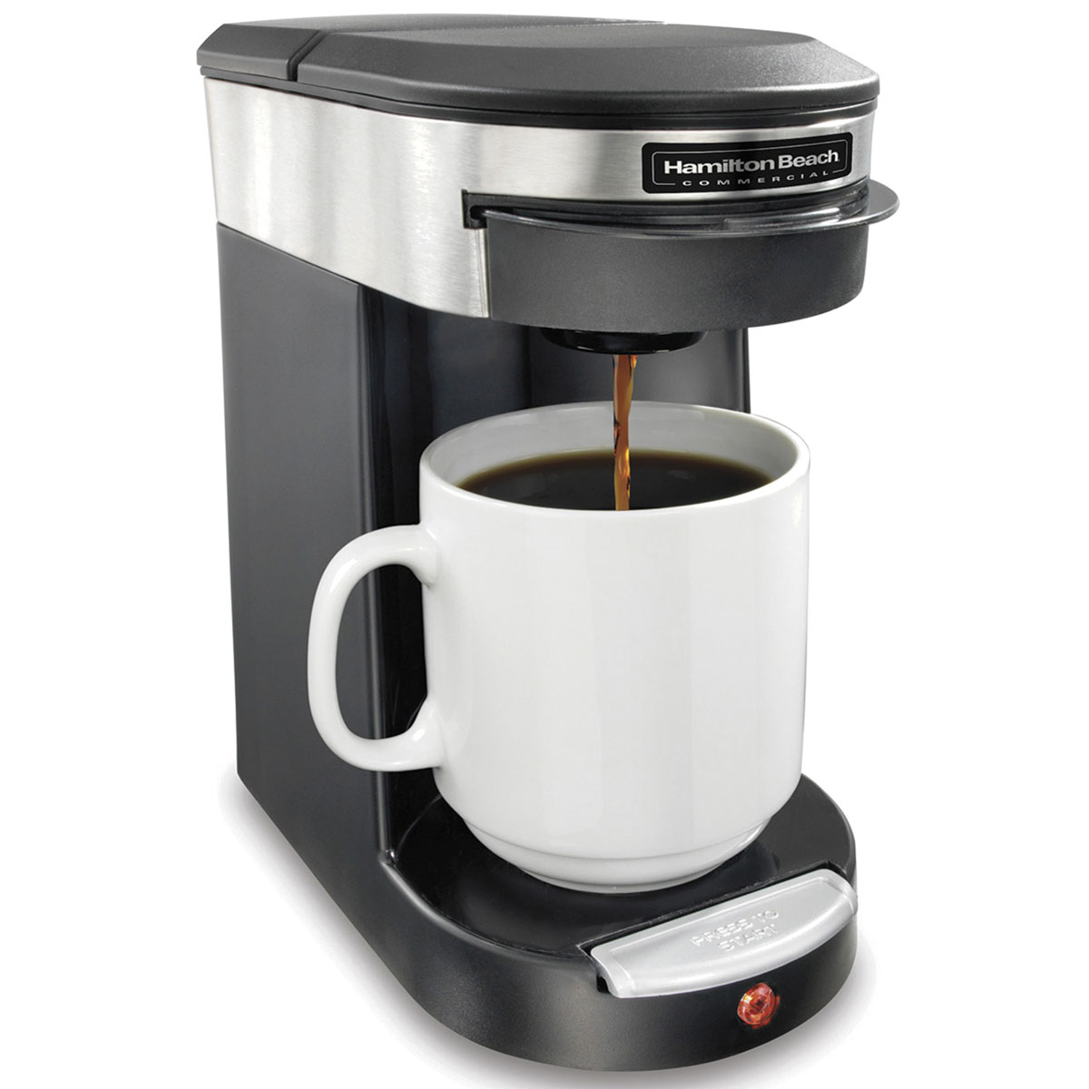 One Cup Stainless Steel Coffee Maker : Hamilton Beach Commercial HDC200S Deluxe 1 Cup Pod Coffee Maker w/ ASO Black/Stainless Steel 6 ...