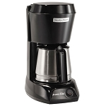 Hamilton Beach Commercial HDC500CS 4 Cup Coffee Maker w/ Swing OutLift Off Brew Basket Black w/ Stainless Steel Carafe 6 Per Case Price Per Each