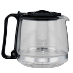 Hamilton Beach Commercial 4 Cup Replacement Carafe Fits Models HDC500B HDC700W & HDC700B Glass/Black 4 Per Case Price Per Each
