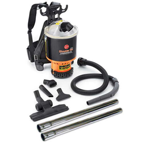 Hoover C2401-010 Shoulder Vac Pro Commercial Backpack Vacuum w/ 1.25 ...