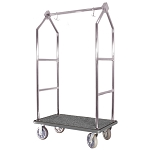 Hospitality 1 Source Contemporary Series Bellman's Cart Stainless Steel