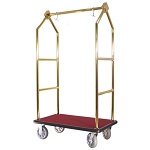 Hospitality 1 Source Contemporary Series Bellman's Cart Titanium Gold