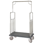 Hospitality 1 Source Classic Series Bellman's Cart Stainless Steel