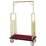 Hospitality 1 Source Classic Series Bellman's Cart Titanium Gold