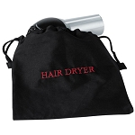 Hospitality 1 Source Hair Dryer Bag w/ Black/Red Embroidery 10 Per Case Price Per Each