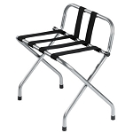 Hospitality 1 Source Powder Coat Luggage Rack w/ Back & Black Straps Hammertone Finish 4 Per Case Price Per Each