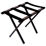 Hospitality 1 Source Metropolitan Powder Coat Luggage Rack w/ Black Straps Brown Finish 4 Per Case Price Per Each
