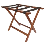 Hospitality 1 Source Deluxe Wooden Luggage Rack w/ Black Straps Light Mahogany Finish 4 Per Case Price Per Each