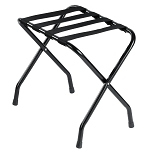 Hospitality 1 Source Powder Coat Luggage Rack w/ Black Straps Black Finish 4 Per Case Price Per Each