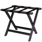 Hospitality 1 Source Composite Luggage Rack w/ Black Straps Black Finish 2 Per Case Price Per Each