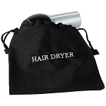 Hospitality 1 Source Flame Retardant Hair Dryer Bag w/ Black/White Embroidery 10 Per Case Price Per Each