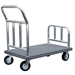 "Hospitality 1 Source Stainless Steel Utility Cart w/ 5"" Fully Pneumatic Wheels"