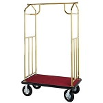 Hospitality 1 Source Transporter Series Bellman's Carts Brass Finish