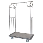 Hospitality 1 Source All In One Bellman Carts Brushed Stainless Steel
