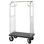 Hospitality 1 Source Transporter Series Bellman's Carts Stainless Steel Finish