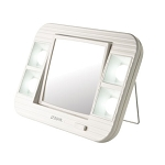 Jerdon J1015 Lighted Tabletop Makeup Mirror 1X-5X Magnification White 6 Per Case Price Per Each