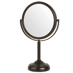 Jerdon JP918BZB Rectangular Non-Lighted Tabletop Mirror 1X-10X Magnification Bronze 4 Per Case Price Per Each