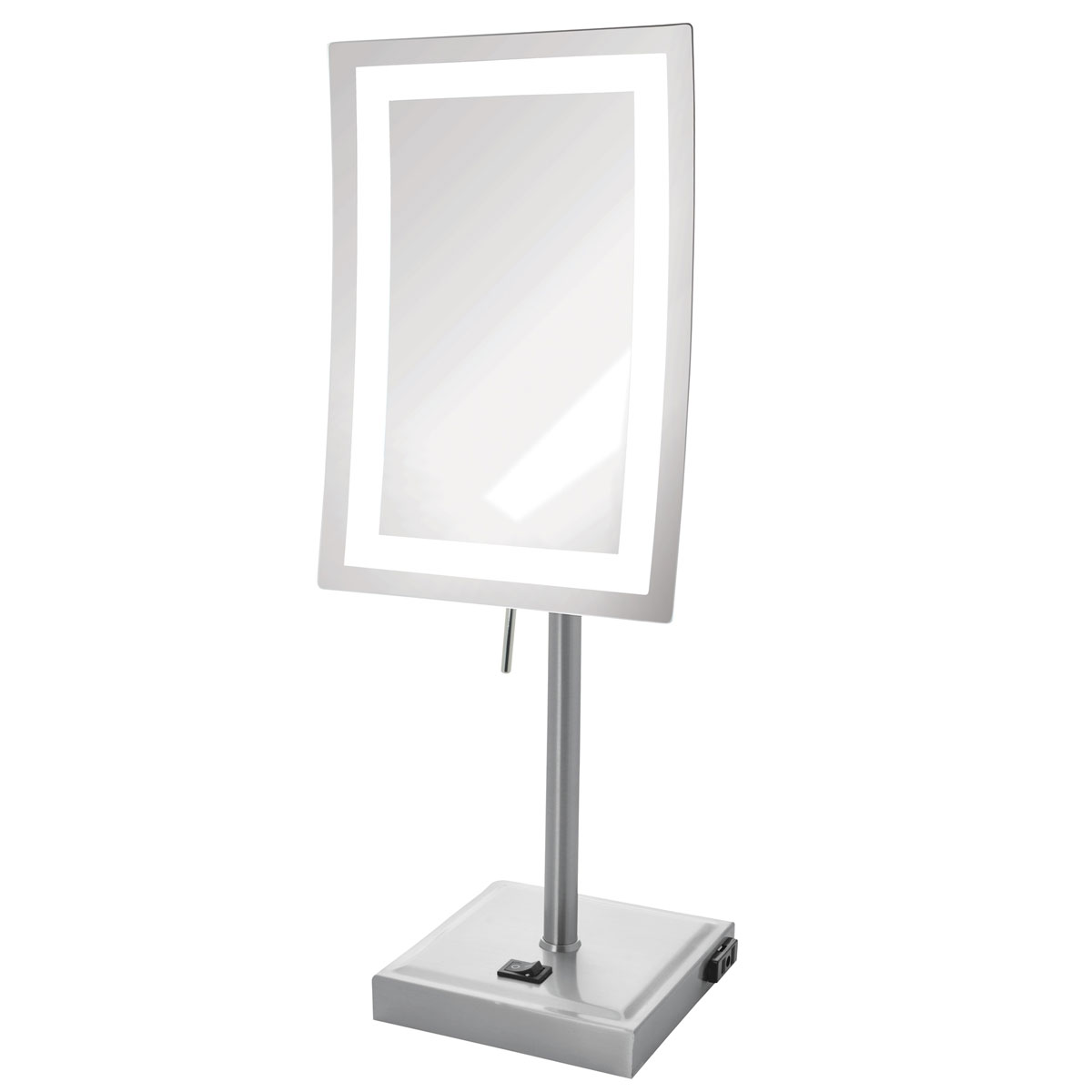 Jerdon Jrt910nl 6 5 Quot X9 Quot Led Lighted Tabletop Mirror 5x