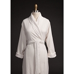Telegraph Hill Seersucker Double Layer Bathrobe 100% Microfiber Stone 6 Per Case Per Each
