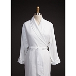 Telegraph Hill Seersucker Double Layer Bathrobe 100% Microfiber White 6 Per Case Per Each