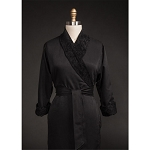 Telegraph Hill Twill Double Layer Bathrobe 100% Microfiber Black 6 Per Case Price Per Each
