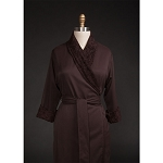 Telegraph Hill Twill Double Layer Bathrobe 100% Microfiber Chocolate 6 Per Case Price Per Each