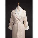 Telegraph Hill Twill Double Layer Bathrobe 100% Microfiber Natural 6 Per Case Price Per Each